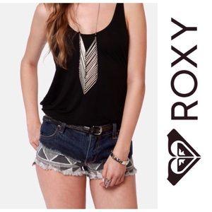 Roxy Suntoucher Ombré Print Cutoff Jean Shorts